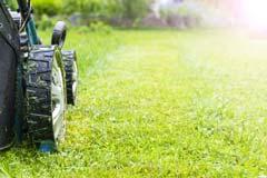 福岡市 一戸建て 一軒家 芝生の刈り込み、芝刈り作業